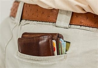ארנק כסף עבור הלוואה לסגירת מינוס